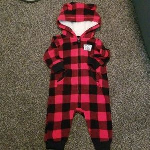 Carter's One Pieces - Fleece romper